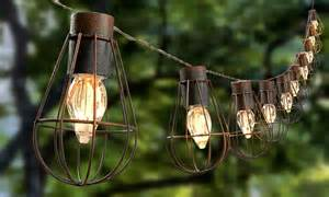Lantern Outdoor String Lights Solar Cage Lantern String Lights From 12 99 In Solar Telegraph Shop