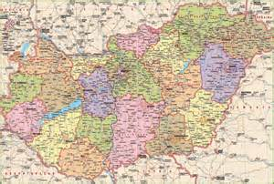 detailed map of cities and towns large detailed map of hungary with cities