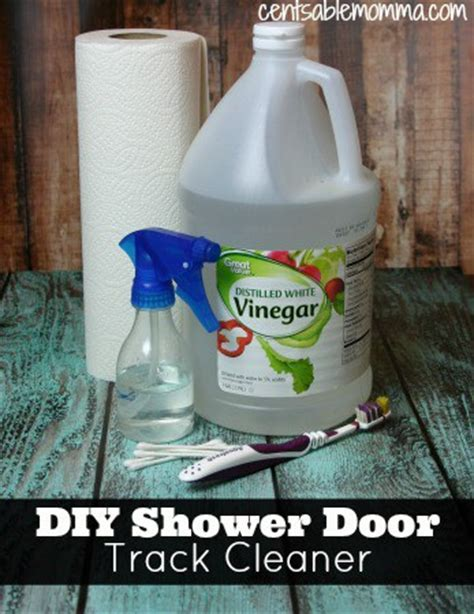 clean  shower door tracks centsable momma