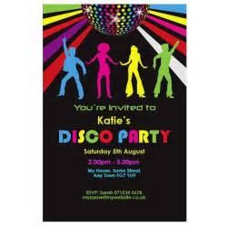 disco theme invitations a birthday cake