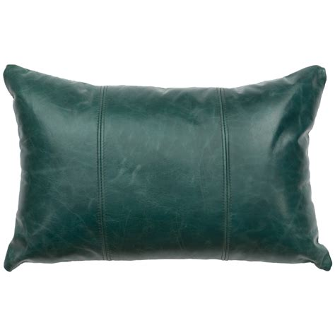 mountain sierra peacock leather pillow