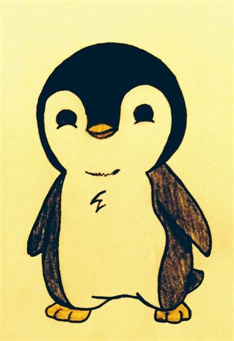 simple penguin tattoo design want to draw also would make an adorable tattoo with mr