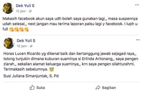 fb yuli akun fb yuli simanjuntak normal lagi ini statusnya buat suami