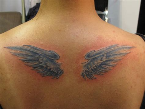 small angel wings tattoo 24 dainty small wings tattoos allnewhairstyles