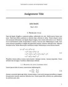Assignment Report Template latex templates 187 assignments