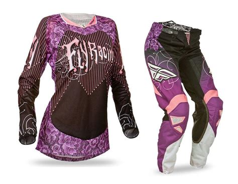 full motocross gear fly racing new mx ladies 2016 kinetic black purple womens