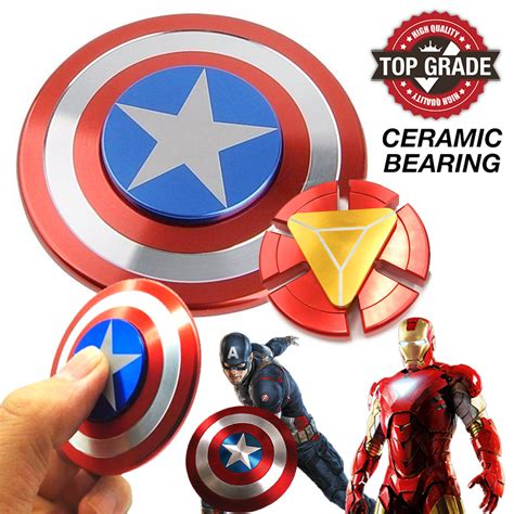 Fidget Spinner Tameng Iron Fidget Spinner Iron Besi fidget spinner captain america iron end 12 2 2019 5 18 pm
