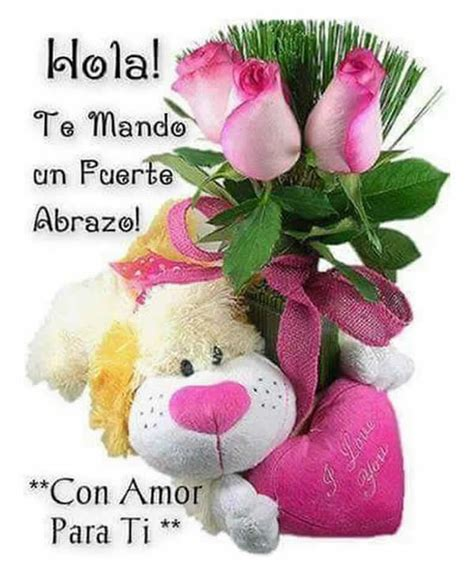imagenes de hola con rosas un abrazo fuerte para ti ichistesgratis com
