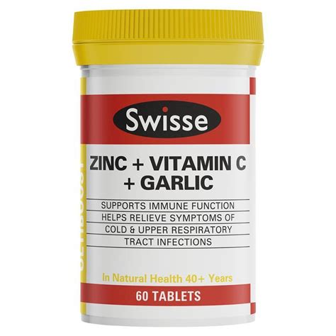 Vitamin C Ul buy swisse ultiboost zinc vitamin c garlic 60 tablets at chemist warehouse 174