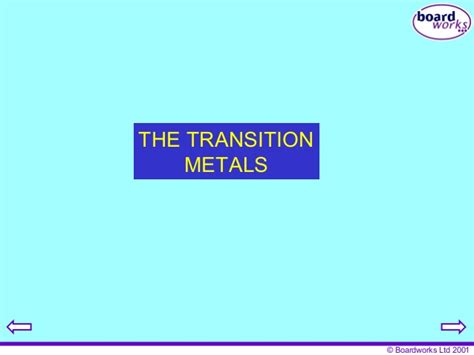 Where Are The Transition Metals Located On The Periodic Table by The Transition Metals 6