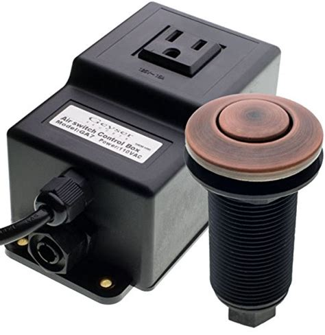 air activated garbage disposal switch single outlet sink garbage disposal air activated switch