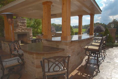 Outdoor Kitchen And Bar by Klein S Lawn Landscaping Hardscapes Outdoor Kitchens