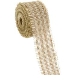 Burlap Fringe 2 5 Quot Striped Burlap Fringe Ribbon Ivory Amp Natural 10