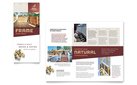 brochure templates for microsoft publisher decks fencing brochure template word publisher