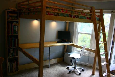 ikea stora loft bed hack loft bed workstation ikea hackers ikea hackers