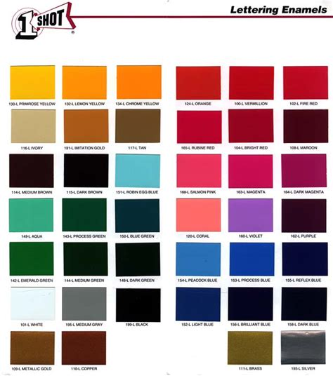 metallic car paint color chart autos weblog