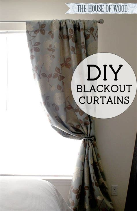 diy blackout curtains diy blackout lined curtains