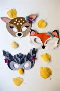 no sew free felt animal mask patterns flax amp twine