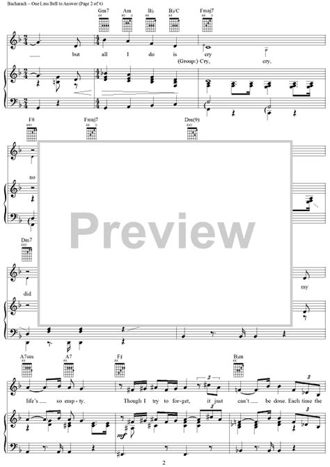 Wedding Bell Chords House by One Less Bell To Answer Sheet For Piano And More