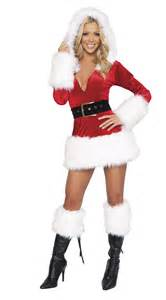 hot sexy santa plush mini dress adult women christmas