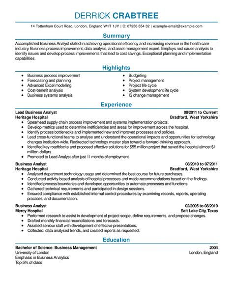 Template Of A Resume by Sle Resume Resume Cv Exle Template