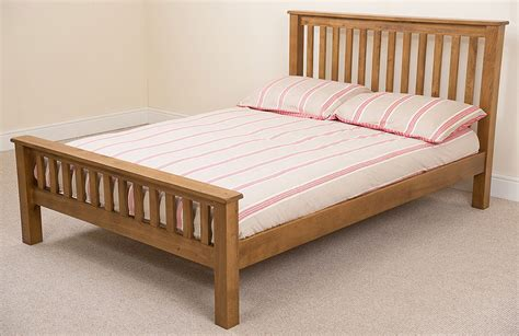 king size bed frame uk cotswold solid oak wood 5ft kingsize bed frame wooden