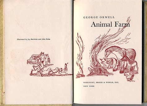 animal farm the illustrated 024119668x animal farm hardcover gift