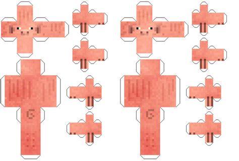 Papercraft Pig - minecraft paper cutouts papercraft minecraft pig