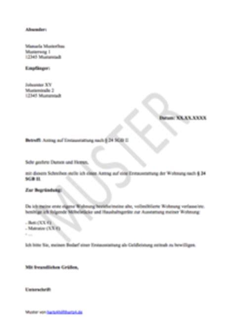 Vorlage Antrag Erstausstattung Wohnung Hartz 4 Antrag Muster F 252 R Alle Belange Hartz Iv Alg 2