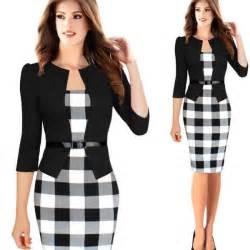 robe femme vetement treillis de bureau noir achat