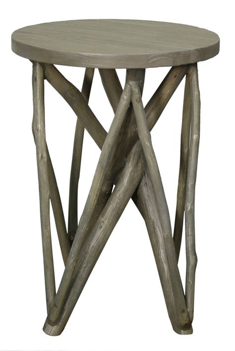 grey washed end tables branch forest end table in washed gray color made from