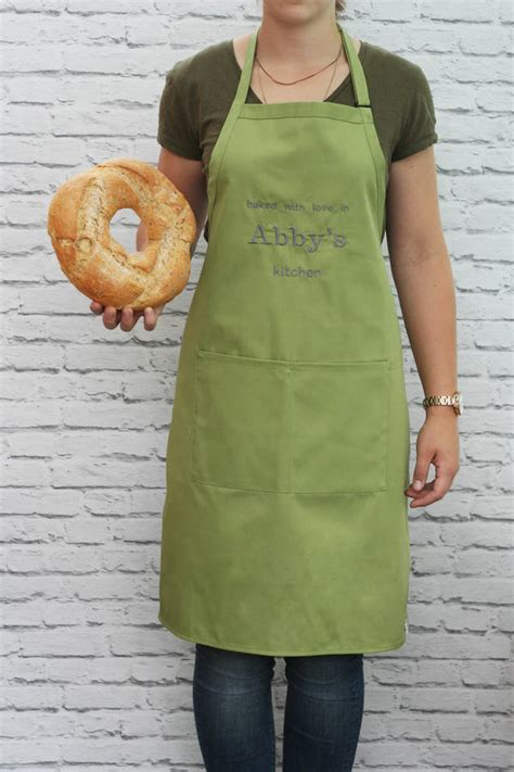 Cook Bake Apron Olive personalised baked with apron by hide seek