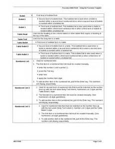 Procedure List Template Procedure Template Hashdoc