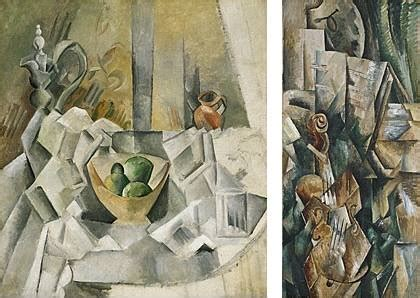 what movement was picasso part of cubism movement 1909 left picasso right braque