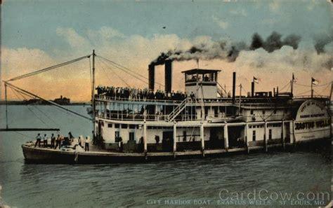 boat house st louis city harbor boat quot erastus wells quot st louis mo
