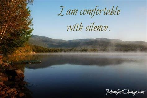how to be comfortable with silence 285 best daily affirmations images on pinterest