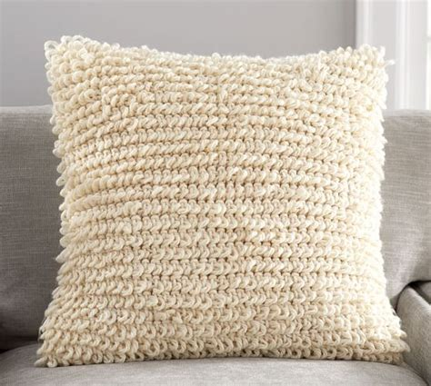 knitted pillow covers loopy knit pillow cover pottery barn
