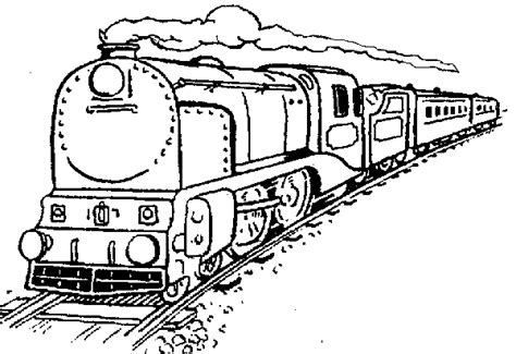 steam locomotive coloring pages for kids