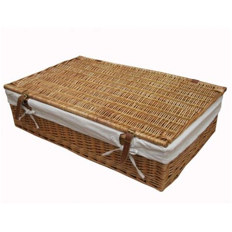 under bed storage baskets wicker under bed storage basket lined willow large