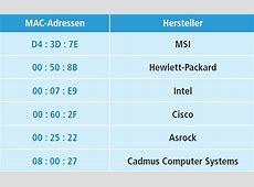 MAC-Adressen - ID eines Netzwerkadapters - com! professional Mac Adresse