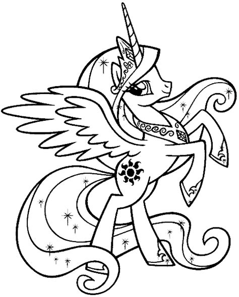 hard my little pony coloring pages seite 5
