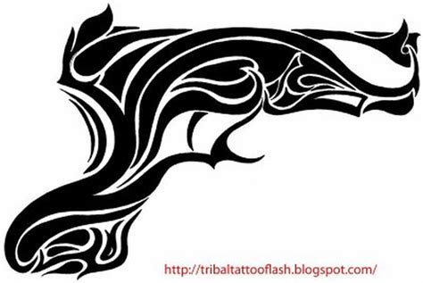 tribal gun tattoo designs tribal gun design tattoos book 65 000 tattoos