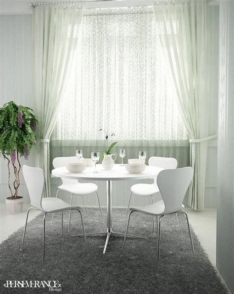 White Living Room And Dining Room Perdele Si Draperii Moderne In Designul Interior