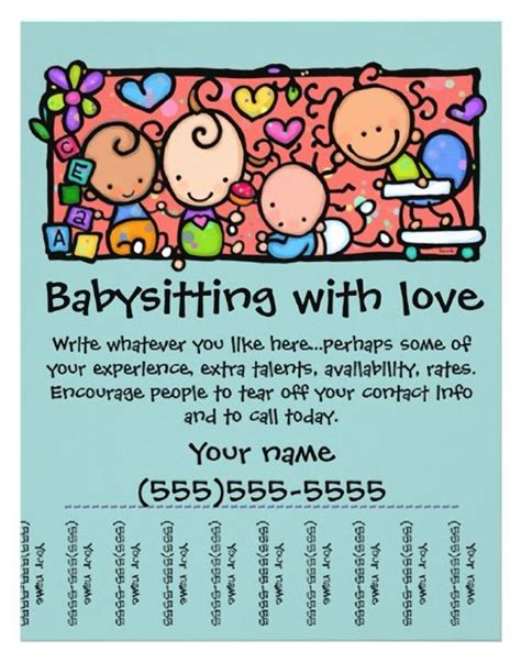 cool flyer templates free best 20 babysitting flyers ideas on