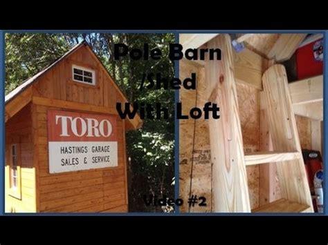 pole barn shed  loft interior walk  youtube