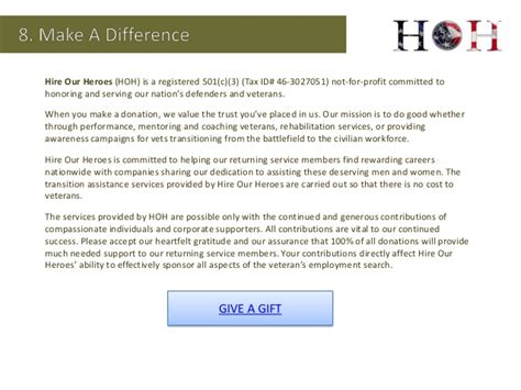 Cover Letter Best Practices by Hire Our Heroes Hoh Is