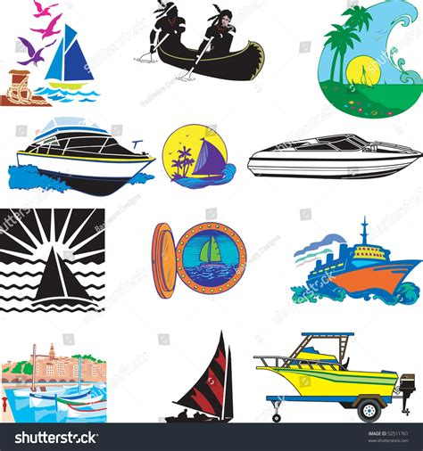 types of boats a z vector illustration of 12 different types of boats