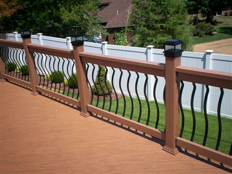 decking banister types of deck railing st louis decks screened porches pergolas by archadeck