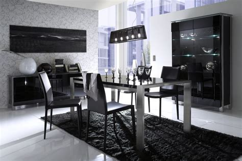 Contemporary Black Dining Room Sets | dining room large black dining room table for small
