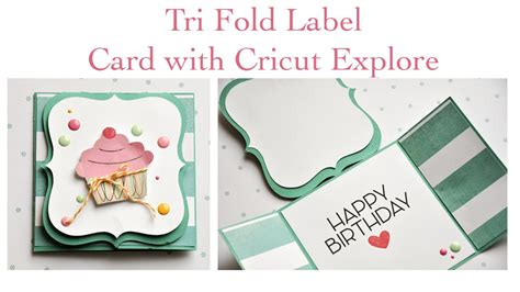 trifold card with cricut explore
